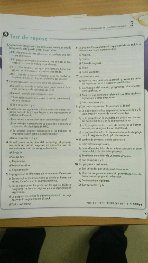 Test y Ejercicios Tema 3 SOM